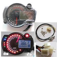 199 km h lcd digital speedometer tachometer odometer motorcycle