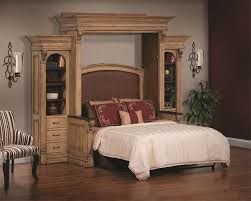 wall beds with desk amish serenity wall bed and desk with side storage from dutchcrafters
