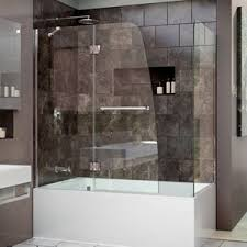 hinged glass shower door shower u0026 bathtub doors you u0027ll love wayfair