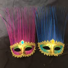 spray paint coloured drawing or pattern lace the rain mask party