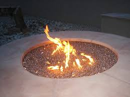 How To Make A Campfire In Your Backyard How To Build A Gas Fire Pit With The Fire Glass Nice For The