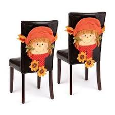 thanksgiving chair smiling scarecrow girl chair covers set of 2 chair covers