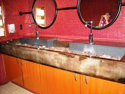 commercial trough sink bathroom inspiration home designs