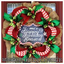 burlap christmas wreath burlap christmas wreath happy holidays from pvwreathsbymelissa