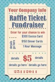 customizable design templates for raffle fundraiser event