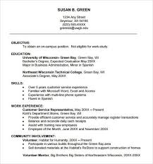 Example College Resumes by Resume Sample For Freshman College Student Templates