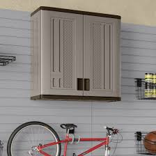 garage wall storage cabinet in gray finished made of solid wood