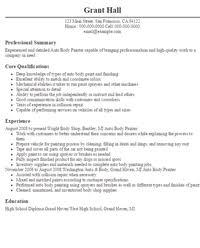 Painter Resume Template Painter Resume Templates