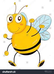 simple cartoon bee stock vector 102606743 shutterstock