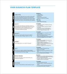 Business Plan Template Excel Free Business Plan Template 6 Free Word Excel Pdf Format