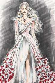 Design A Wedding Dress Everything Another Bit Of Fan Art A Wedding Dress For Dany