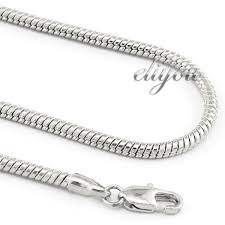white gold filled necklace images Free shipping 2mm new fashion jewelry 18k white gold filled jpg