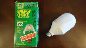 ge 15watt preheat energy choice cfl light bulb youtube