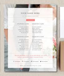 wedding photography pricing wedding photographer price list flyer templates creative market