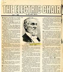 Electric Chair Executions Gone Wrong by Chair New Built Especially So It Could Accommodate See Taken