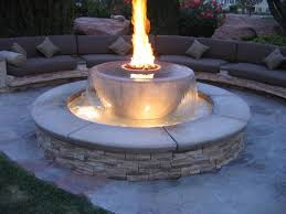 Gas Fire Pit Kit by Patio Ideas Gas Fire Pit Kits With Small Fountain Ideas And Patio