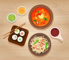 cuisine types food stock vector illustration of noodle sushi 60050031