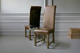 Tall Back Chairs by Tall Roll Back Cowhide Chair By Indigo Furniture