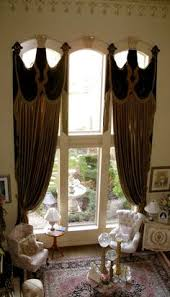 Window Treatment Hardware Medallions - vivaldi v swag and drapery treatment featuring velvet banding and