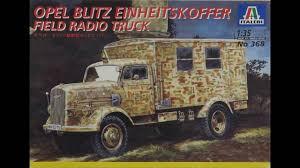 opel blitz interior italeri 1 35 opel blitz einheitskoffer radio truck kit 368 youtube