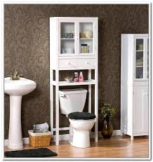 Contemporary Bathroom Storage Cabinets Bathroom Contemporary Bathroom With White Wood Toilet