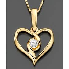 heart gold pendant necklace images Sirena 14k gold necklace diamond heart pendant 1 5 ct t w out=j