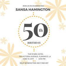 50 birthday invitations free 28 images 50th birthday