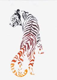 asian tiger tattoo design sample
