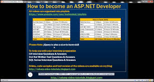 Sample Resume For Dot Net Developer Experience 2 Years by How To Become Asp Net Developer Youtube