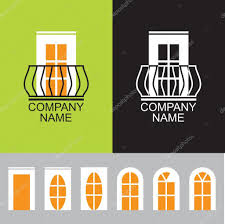 Different Windows Designs Balcony Icon With A Set Of Different Windows U2014 Stock Vector
