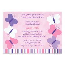 pink purple butterfly baby shower invitations zazzle