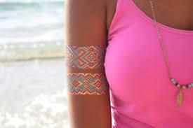 set of 2 tattoo bracelets native american beadwork bracelet