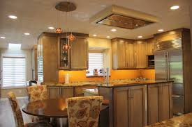 Kitchen Island With Built In Seating by Shaker Kitchen Induction Cooktop In Island Built In Wine Fridge