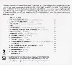 обложки к альбому all the seasons of george winston piano solos