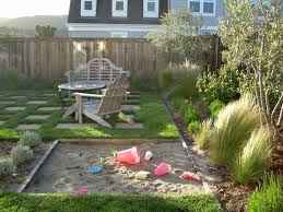 Backyard Landscape Ideas On A Budget Gorgeous Sandboxes In Landscape Traditional With Inexpensive