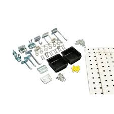 triton products locboard 9 sq ft steel square hole pegboards