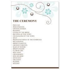 Example Of Wedding Program Wedding Bulletins Examples Finding Wedding Ideas