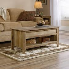 coffee table rustic modern natural brown wood lift top storage