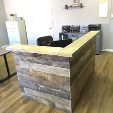 Wood Reception Desk Reclaimed Wood Reception Counter Reclaimed Wood Retail Sales