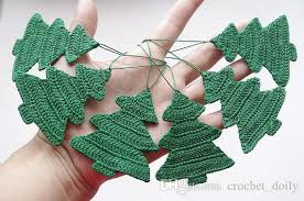 crochet decorations ornament tree cotton crochet