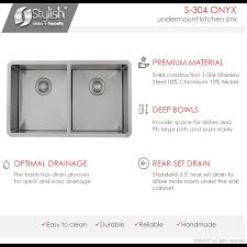 30 inch undermount double kitchen sink inch undermount double bowl 16g stainless steel kitchen sink s 304x