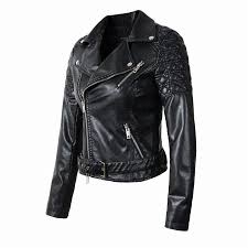 ladies motorcycle jacket new fashion women faux leather jacket ladies motorcycle pu blue