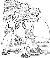 coloring pages adam and eve garden of eden where adam and eve was live coloring page netart