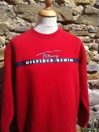 vintage hilfiger sweaters vintage hilfiger script sweater column11