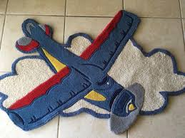 Pottery Barn Rugs Kids by Pottery Barn Kids Boy Rug Airplane Plane Wool Carpet Sky Aero