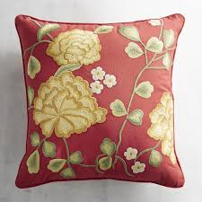 Pier One Peacock Pillow by Embroidered Marigolds Pillow Pier 1 Imports