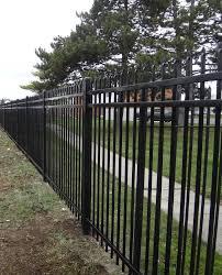 v 2 spear point 3 rail steel commercial spaulding fence supply
