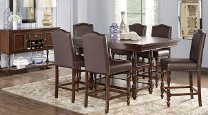 Dining Room Table Counter Height Stanton Cherry 7 Pc Counter Height Dining Room Dining Room Sets