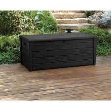 Patio Storage Chest by Keter Brightwood 120 Gallon Outdoor Garden Patio Storage Furniture