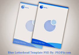 blue letterhead template psd psd fly download free psd files